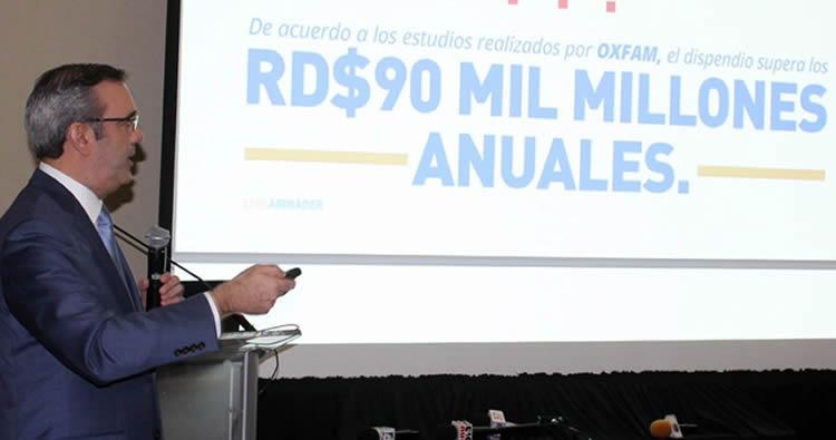 Luis Abinader propone un acuerdo contra corrupción e impunidad