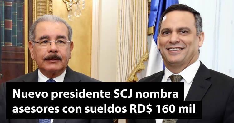 Luis Henry Molina, nuevo presidente SCJ nombra asesores con sueldos 160 mil