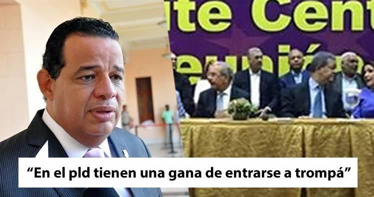 Luisin Jiménez: 'En el pld tienen una gana de entrarse a trompá'