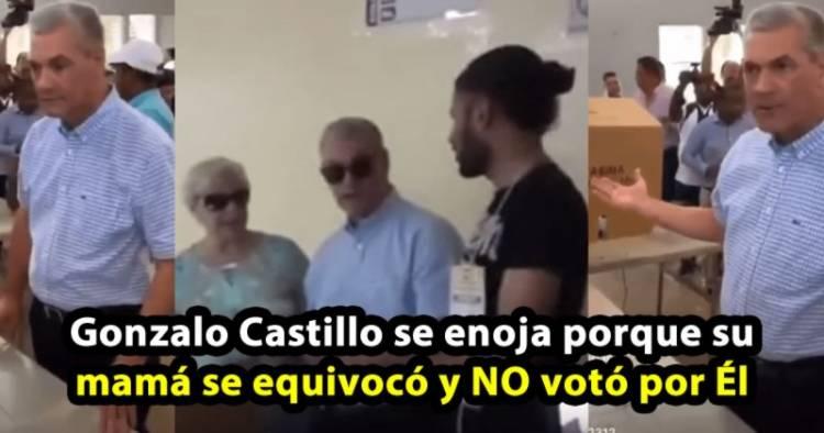 Video: Gonzalo Castillo se enoja porque su mamá se equivocó y NO votó por Él