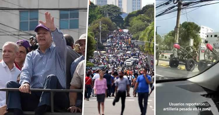Leonelistas desafían la lluvia y radicalizan lucha en defensa de la Constitución