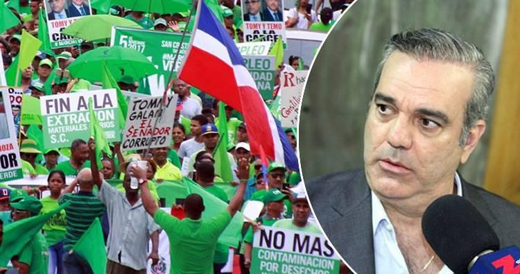 Marcha Verde advierte a Luis Abinader sobre un «borrón y cuenta nueva»