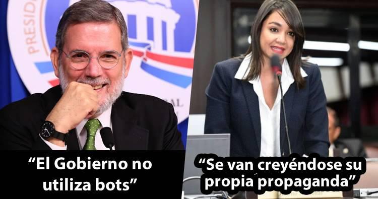 Rodríguez Marchena dice gobierno no utiliza bots y Faride Raful le responde