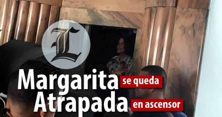 Video: Margarita Cedeño se queda atrapada en ascensor de Centro de Telecomunicaciones