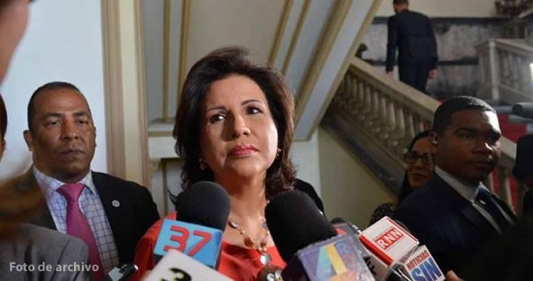 Margarita Cedeño de Fernández rechaza el uso del 30% fondos de AFP