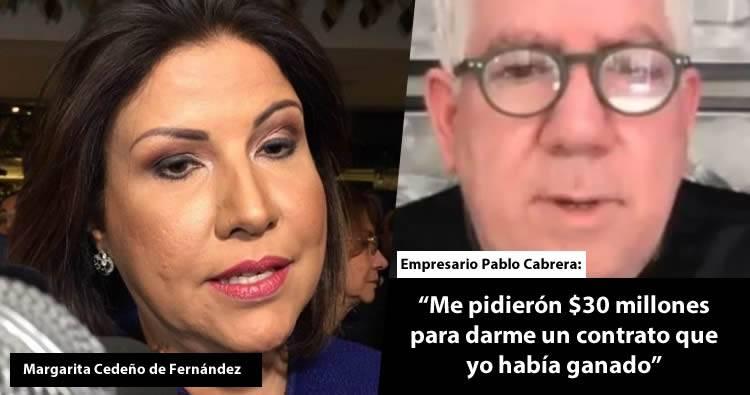 Margarita Cedeño «felicita» a empresario denunció irregularidades en el Inaipi