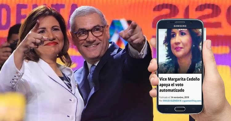Gonzalo Castillo escoge a Margarita Cedeño de Fernández como candidata a la vicepresidencia