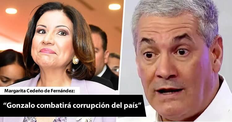 Margarita Cedeño dice que Gonzalo combatirá corrupción