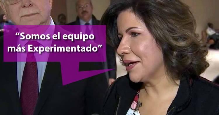 Margarita Cedeño dice que van a ganar porque son el equipo más experimentado