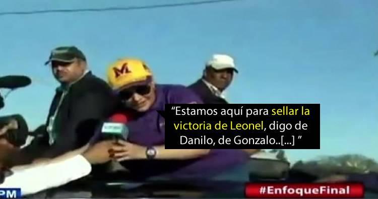 Video: Margarita Cedeño se confunde y menciona a Leonel por Danilo en San Cristóbal