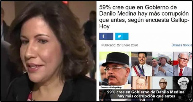 Margarita Cedeño dice RD no ha tenido escándalos de corrupción como dicen estudios internacionales