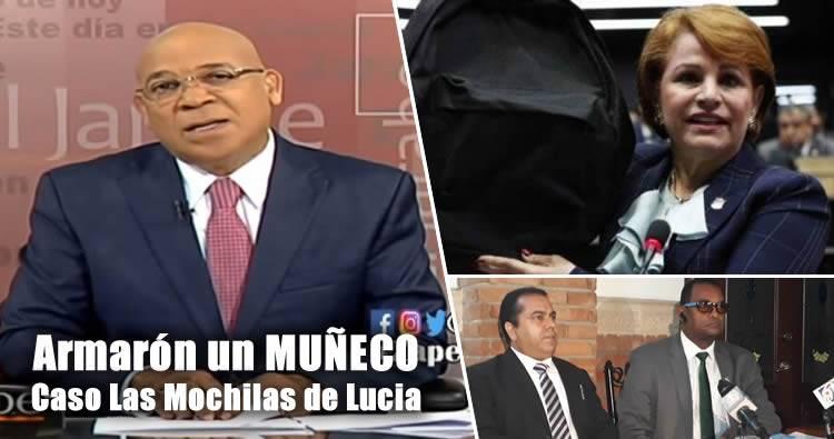 Marino Zapete dice que 'armarón un muñeco' con caso de las mochilas de Lucia Medina
