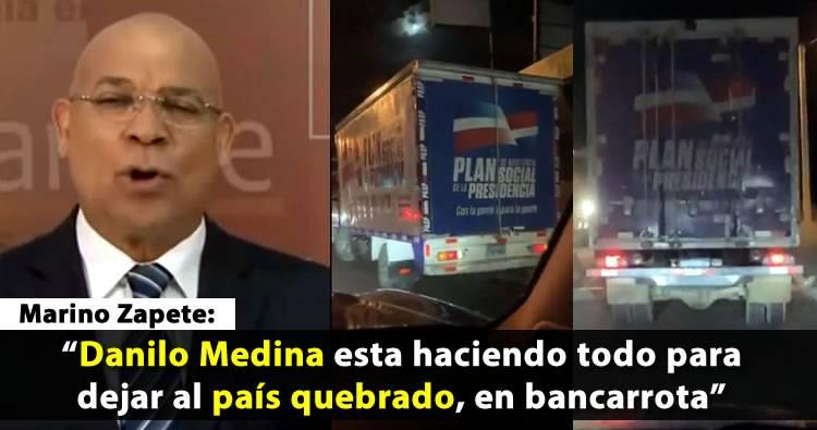 Video: Marino Zapete sobre donaciones Plan Social de la Presidencia en tiempos de Campaña