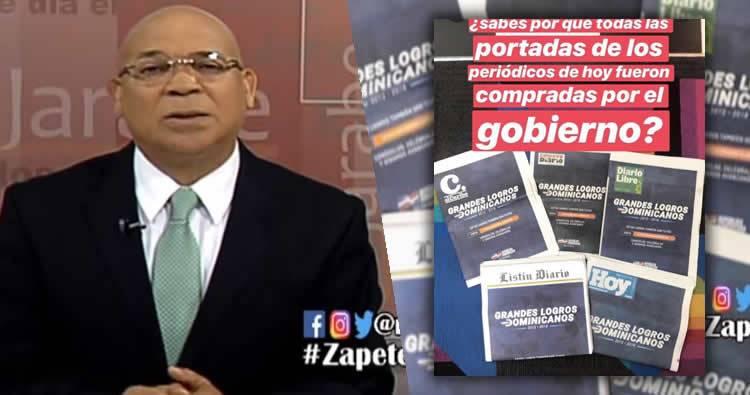 Marino Zapete Explota por la compra de las portadas de periódicos por el gobierno para opacar Marcha Verde