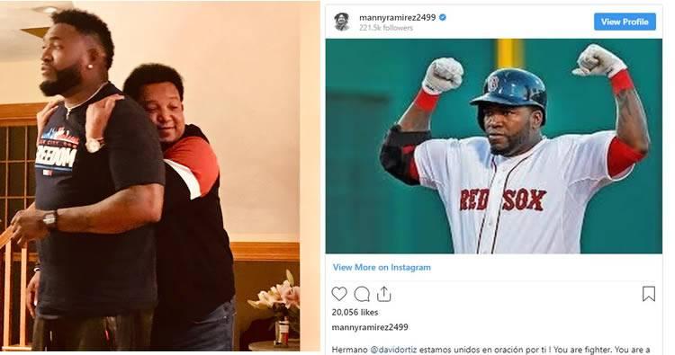 Emotivos mensajes de Pedro Martínez y Manny Ramírez a David Ortiz