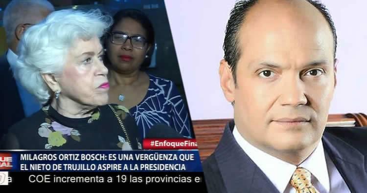 Milagros Ortiz Bosch arremete contra Ramfis Trujillo