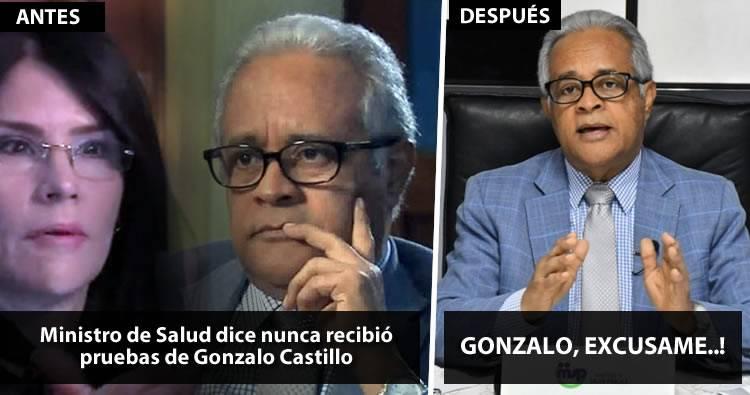 Tras «metida de pata» Ministro de Salud pide excusas a Gonzalo Castillo
