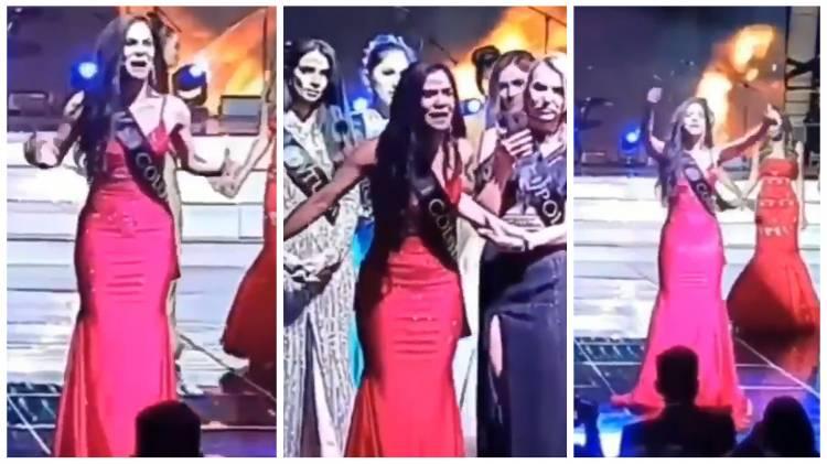 Miss Colombia denunció fraude en pleno escenario de concurso de belleza