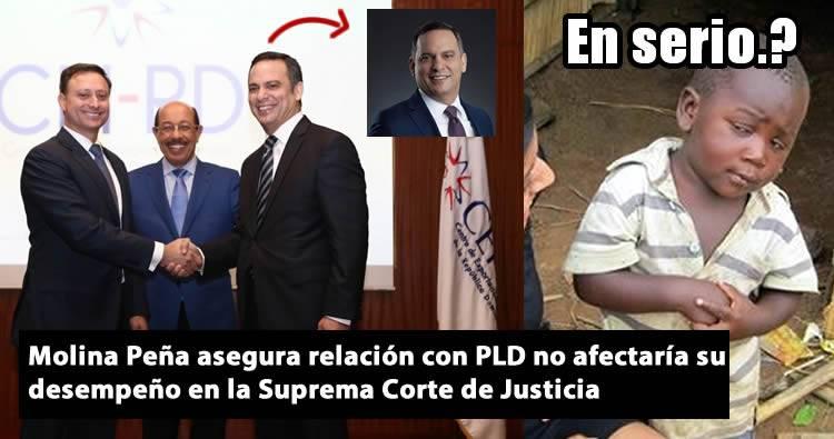 Molina Peña asegura relación con PLD no afectaría su desempeño en Suprema Corte de Justicia