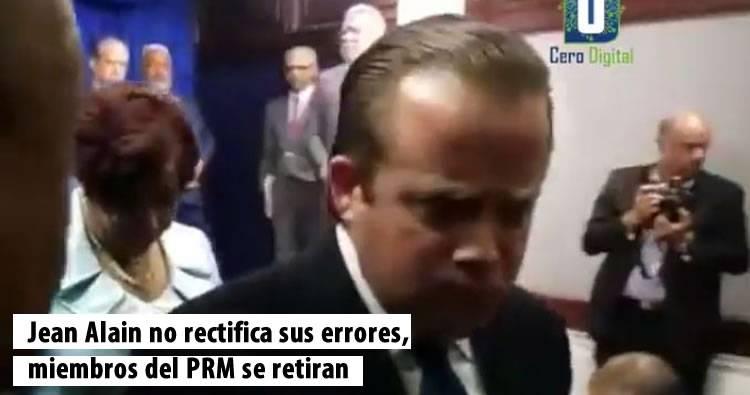 Video: PRM se retira de rueda de prensa porque Jean Alain no rectificó sus violaciones