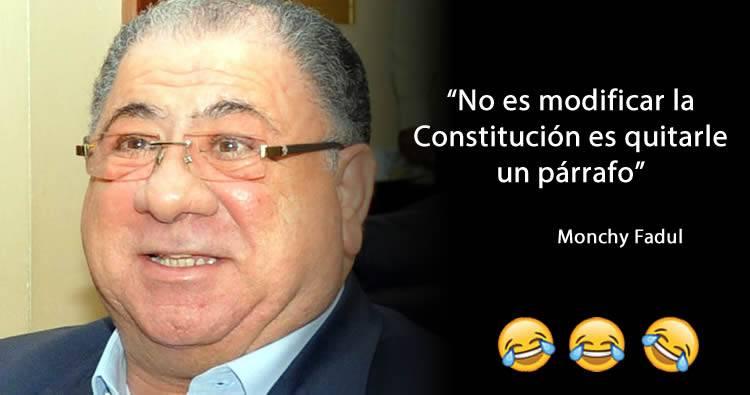 """Monchy Fadul: """"No es modificar la Constitución es quitarle un párrafo"""""""