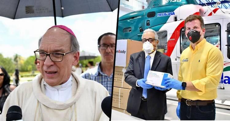 Monseñor Masalles dice es terrible el manejo aplicado por las autoridades contra el coronavirus en sus inicios