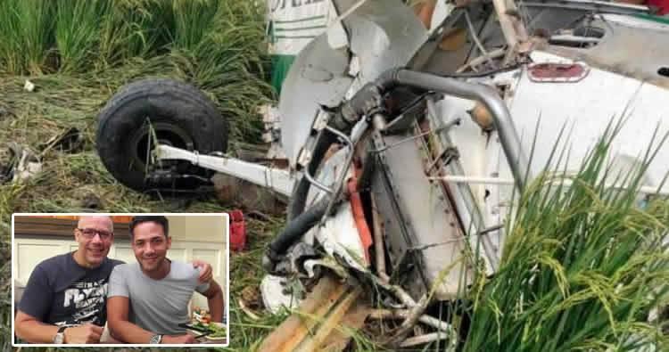 Piloto fallecido en accidente aéreo era hermano de Sergio Carlo