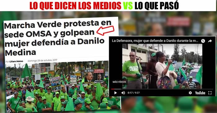 Video la mujer que habló a favor de Danilo en la Marcha verde