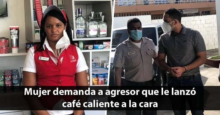 Empleada demanda a hombre que le lanzó café caliente a la cara