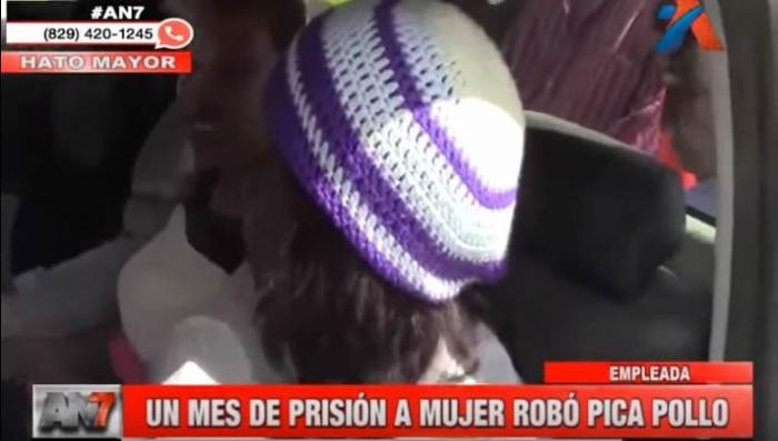 Imponen un mes de prisión preventiva a mujer que robó pica pollo