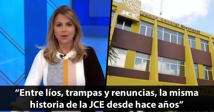Nuria Piera: 'Líos, trampas y renuncias, la misma historia de la JCE desde hace años'
