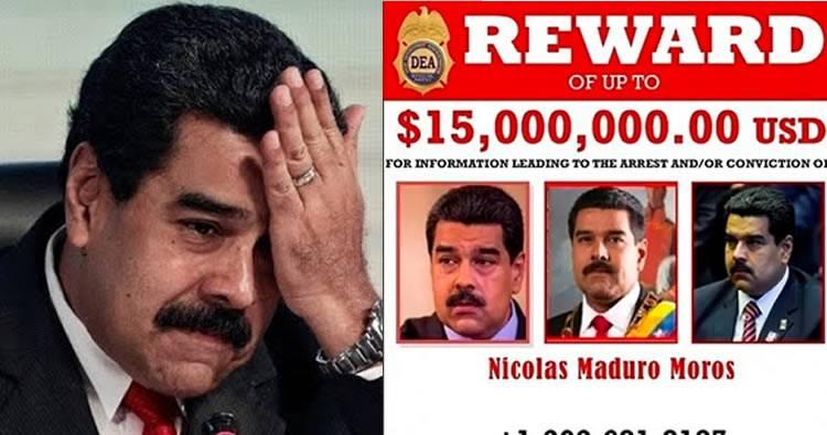 EEUU ofrece 15 millones de dólares por Nicolás Maduro, acusado de narcoterrorismo