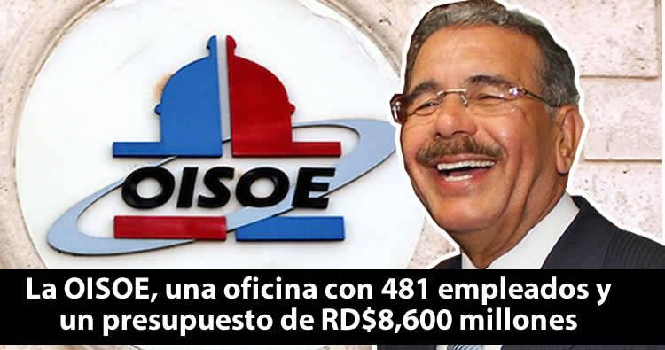 La OISOE, una oficina con 481 empleados y un presupuesto de RD$8,600 millones