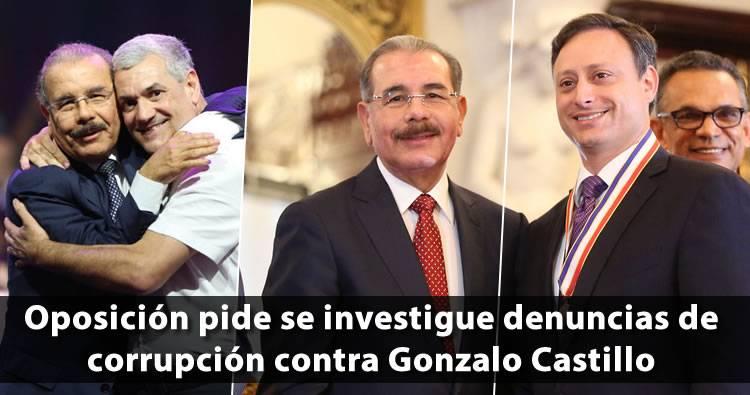 Oposición pide se investigue denuncias de corrupción contra Gonzalo Castillo