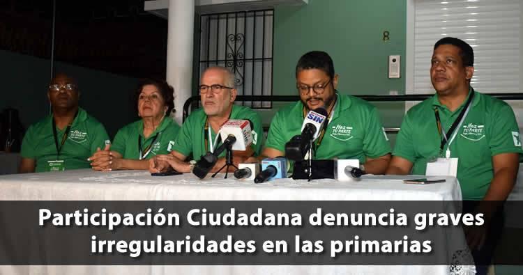 Participación Ciudadana denuncia graves irregularidades en las primarias