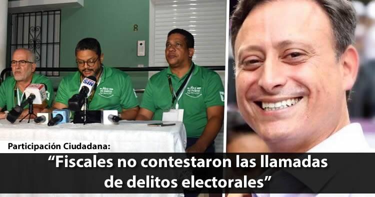 Participación Ciudadana dice fiscales no contestaron 72% de las llamadas de delitos electorales