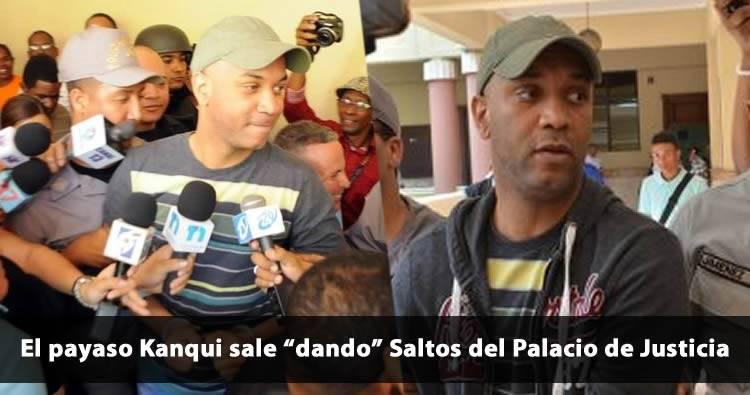 Video: Payaso Kanqui sale 'dando saltos' del Palacio de Justicia de Santiago