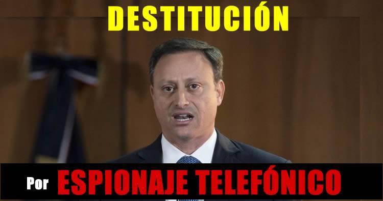 Piden destitución Jean Alain Rodríguez por espionaje telefónico