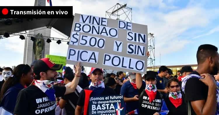 Protestas en Plaza de la Bandera – Transmisión en vivo
