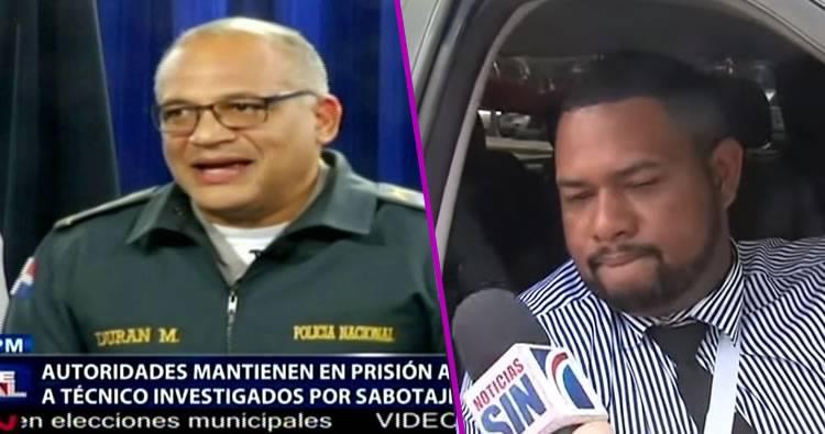 Policia Nacional 'dice' coronel y técnico son colaboradores en caso de sabotaje de elecciones; buscan autores intelectuales