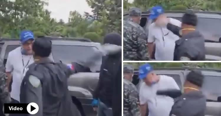 Video: Policía le da tremenda galleta a un médico en Bonao
