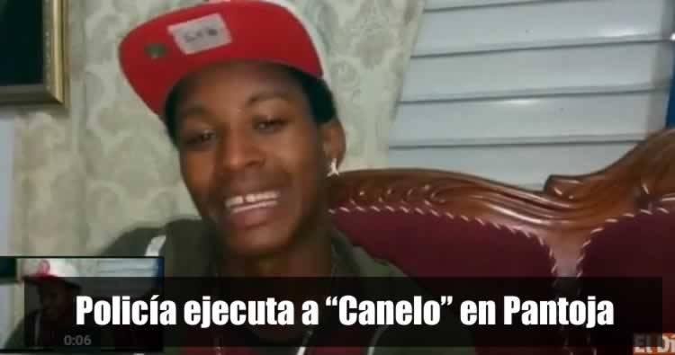 Video: Policía ultima a 'Canelo' en Pantoja