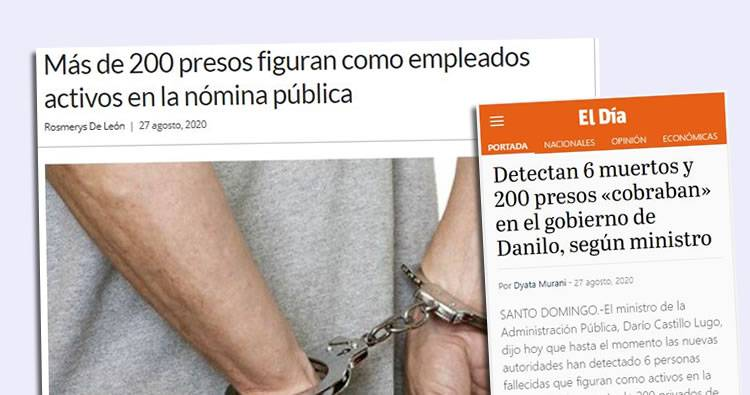 6 muertos y 200 presos «cobraban» en el gobierno de Danilo, según ministro