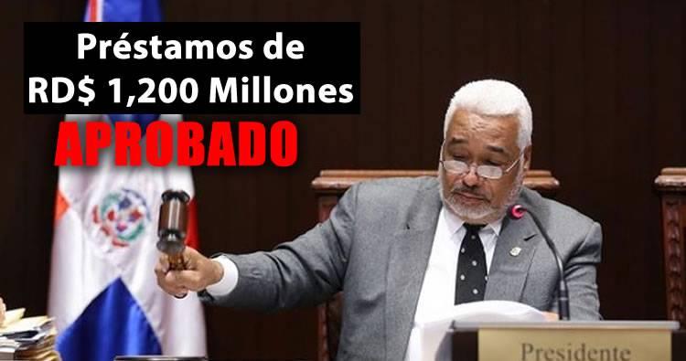 Diputados aprueban préstamos RD$ 1,200 millones para doble sueldo de ayuntamientos