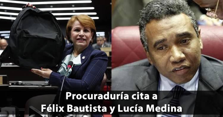 Procuraduría cita a Félix Bautista y Lucía Medina