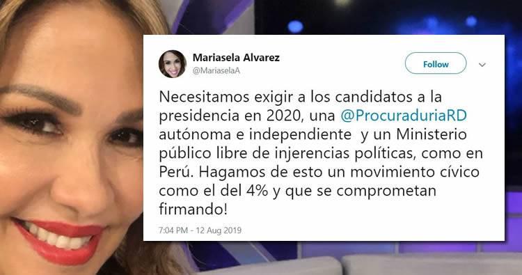 Propuesta de Mariasela Álvarez para exigir una Procuraduría autónoma e independiente