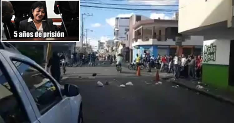 Protestan en SFM por inconformidad por condena de solo 5 años a Marlin Martínez