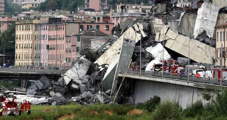 Se elevan a 39 los fallecidos tras el derrumbe de un puente en Génova