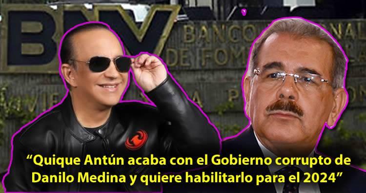 Vinicio Castillo: 'Quique acaba con el Gobierno corrupto de Danilo Medina y quiere habilitarlo para el 2024'
