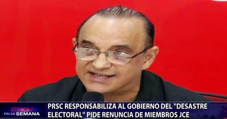 PRSC responsabiliza al Gobierno del 'desastre electoral'